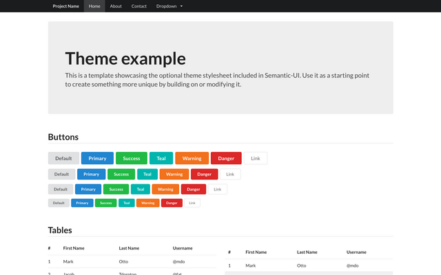 Semantic-UI-Forest: Themes, Templates and Design for Semantic-UI